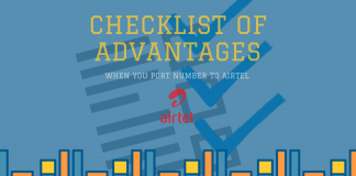 Checklist of advantages to port number to Airtel