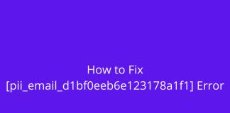Fix [pii_email_d1bf0eeb6e123178a1f1] Error Code Easily